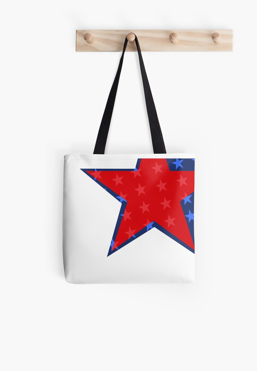 Patriotic Red and Blue American Stars by Pixelchicken