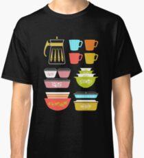 Camiseta clásica Pretiles Pyrex - Utensilios de cocina de vidrio vintage