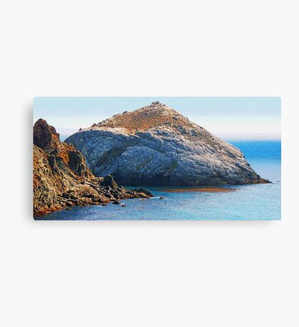 Rock Island photo painting Canvas Print