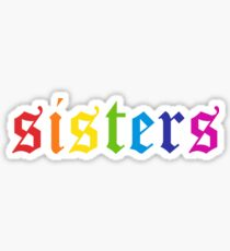 Sisters Rainbow Sticker