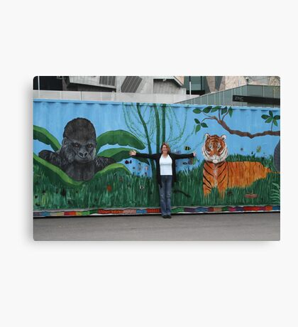 Art for the tigers Canvas Print