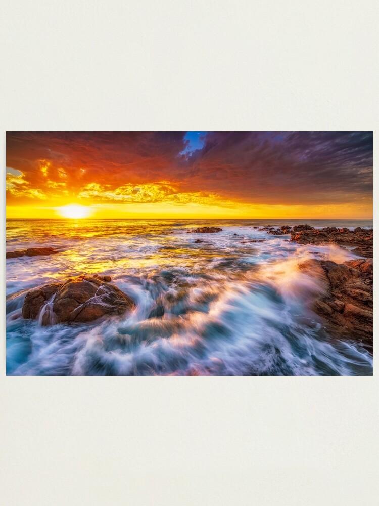 Alternate view of Smith's Beach Sunset Photographic Print