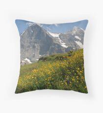 Switzerland - Eiger and Mönch Throw Pillow