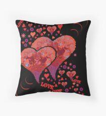 Groovy Love Throw Pillow