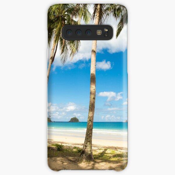 Elnido, Palawan, Philippines - Palm-Lined Beach Samsung Galaxy Snap Case