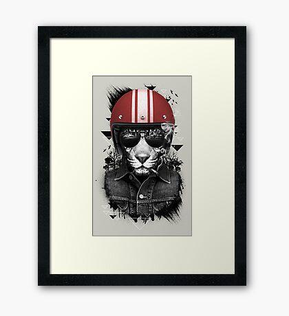 Jungle Rider Framed Print