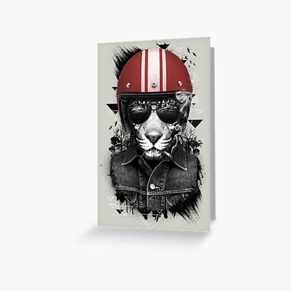 Jungle Rider Greeting Card