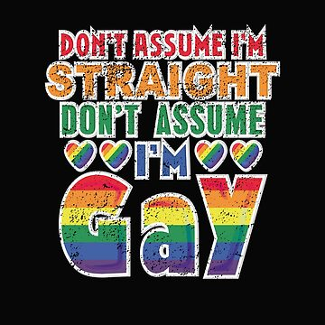 Don't Assume I'm Straight Don't Assume I'm Gay  by Mrpotts73