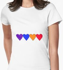 Purple Blue Orange Red (2) Fitted T-Shirt