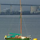 Sailing Boat In Sun by davesphotographics