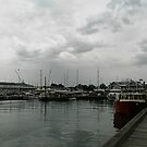 And the Storm rolled in over Docks in Williamstown, Victoria by EdsMum