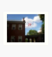 Old Glory at  Independence Hall Art Print