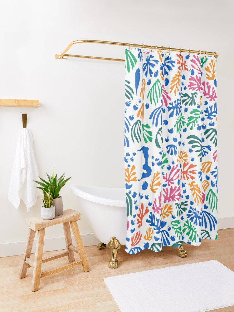Alternate view of Matisse Colorful Pattern #1 Shower Curtain