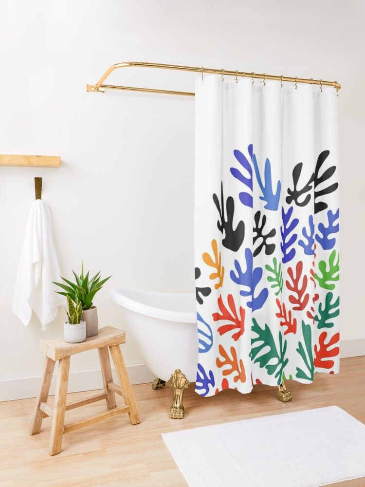 Alternate view of Matisse Floral Pattern #1 Shower Curtain