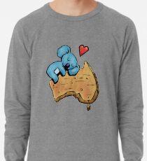 Cute Sleeping Koala on Australia Lightweight Sweatshirt