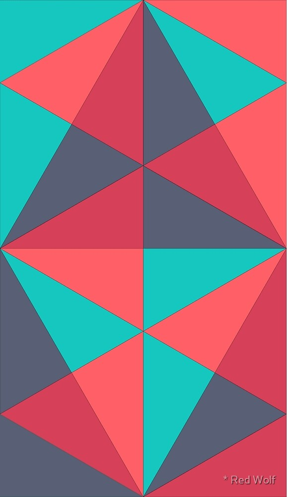Geometric Pattern: Overlay: Berry by * Red Wolf