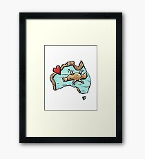 Cute Swimming Platypus in Australia Framed Print