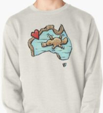 Cute Swimming Platypus in Australia Pullover Sweatshirt