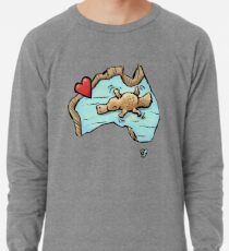 Cute Swimming Platypus in Australia Lightweight Sweatshirt