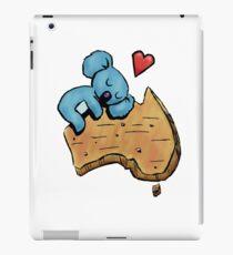 Cute Sleeping Koala on Australia iPad Case/Skin