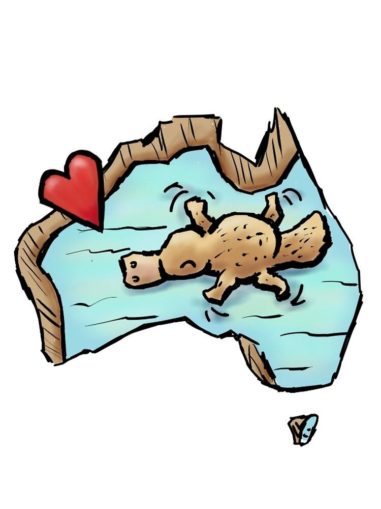 Cute Swimming Platypus in Australia by eddcross