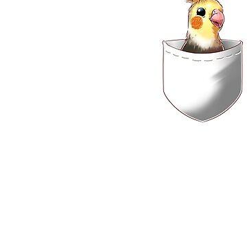 Camiseta Cockatiel Parrot de bolsillo de Purrdemonium