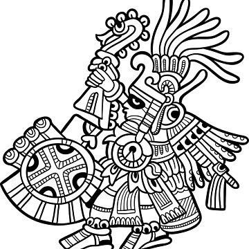 Aztec Deity - Huitzilopochtli by Smaragdas