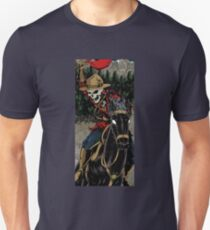 Skeleton Mountie Riding demon horse Unisex T-Shirt