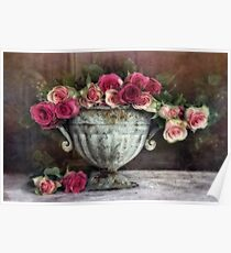 New Year roses Poster