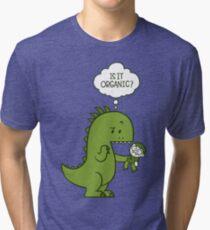Camiseta de tejido mixto Dinosaurio orgánico
