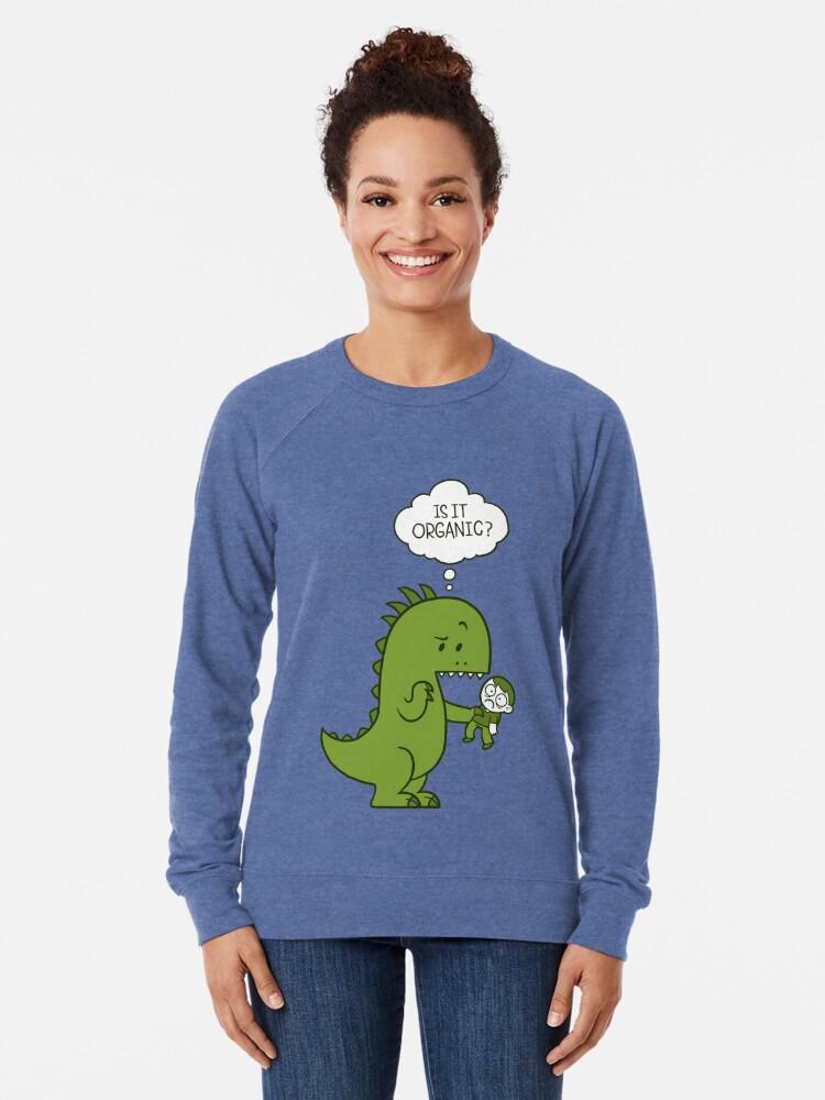 Alternative Ansicht von Organischer Dinosaurier Leichter Pullover