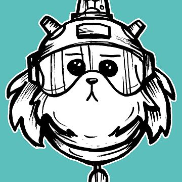 Snuffles Snowball from Rick and Morty™ by sketchNkustom