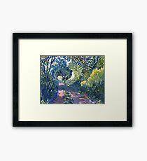 Hockney Trail Tunnel of Trees Framed Print