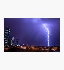 Perth Lightning Photographic Print