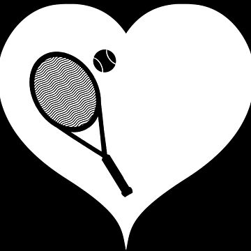 Tennis racket ball by RetroFuchs