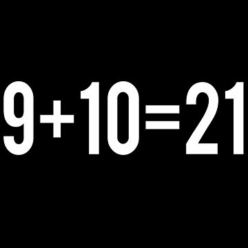 9+10=21 by everything-shop