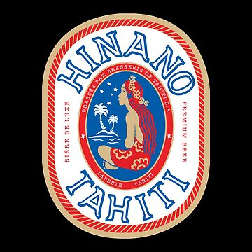 Vintage Hinano Tahiti Label by IntrepiShirts