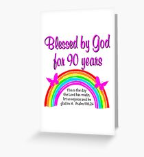 90TH BIRTHDAY BLESSINGS Greeting Card