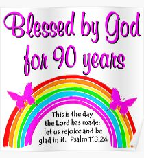 90TH BIRTHDAY BLESSINGS Poster