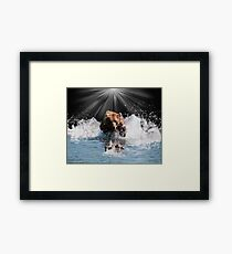 on stoppable force Framed Print