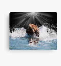 on stoppable force Canvas Print