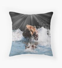 on stoppable force Throw Pillow