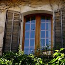 charmingly rustic shuttered windows, Le Castellet, France by BronReid