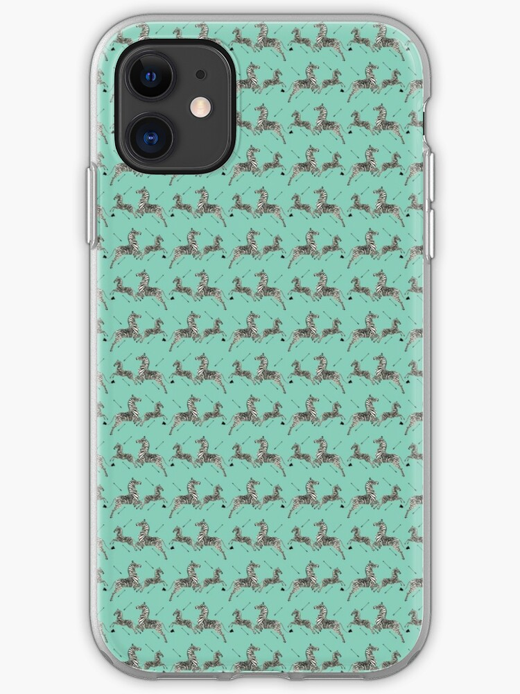 Tiffany Blue Zebra Wallpaper Print Iphone Case Cover By