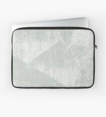Gray Green and White Geometric Ink Texture  Laptop Sleeve