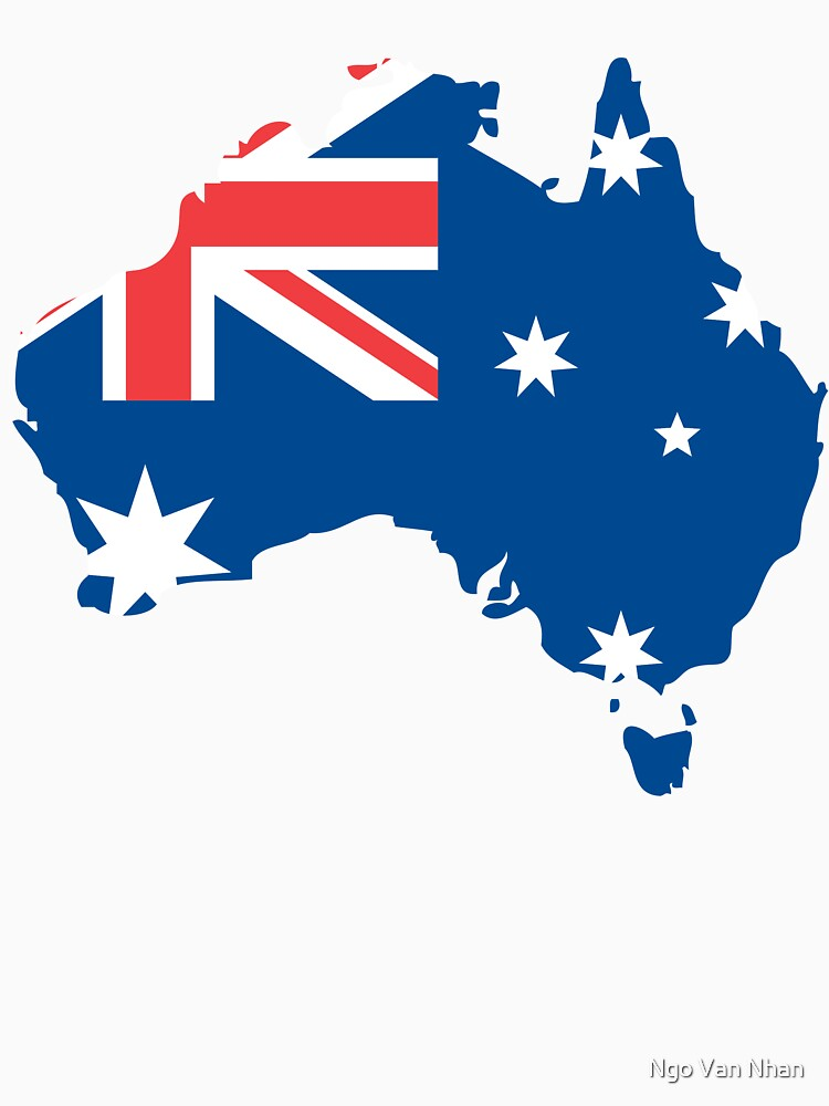 Australia Flag and Map by enhan