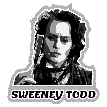 Cool Sweeney Todd, Johnny Depp Simple Black, White and Grey Design by Jurzai