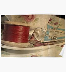 Vintage cotton reel Poster