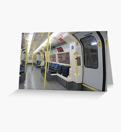 Northern Line Train Emptiness Greeting Card