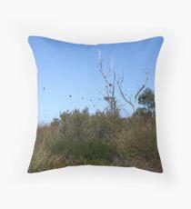 Button Grass Plains Throw Pillow